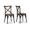 "Konstanze Industrial Walnut Wood and Metal Dining Chair in Antique Cooper Finishing ""Walnut"" Brown"