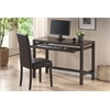 Astoria Dark Brown Modern Desk and Chair Set