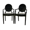 Dymas Modern Acrylic Black Armed Ghost Chair