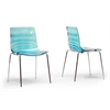 Marisse Blue Plastic Modern Dining Chair