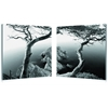 Rocky Shore Mounted Photography Print Diptych Black/White