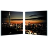 Taipei Skyline Mounted Photography Print Diptych Multi