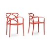 Huxx Red Plastic Stackable Modern Dining Chair