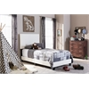 Ramon Modern and Contemporary White Faux Leather Upholstered Twin Size Bed