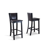 Rinko Bar Stool White/Dark Brown