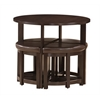 Rochester Brown Modern Bar Table Set with Nesting Stools Dark Brown