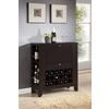 Modesto Brown Modern Dry Bar and Wine Cabinet Dark Brown