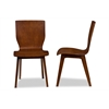 "Elsa Mid-century Modern Scandinavian Style Dark Walnut Bent Wood Dining Chair ""Walnut"" Dark Brown"