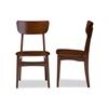 """Netherlands Mid-century Modern Scandinavian Style Dark Walnut Bent Wood Dining Side Chair """"Walnut"""" Dark Brown"""