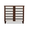 Gisela Oak and White 2-tone Shoe Cabinet With 2 Doors Brown