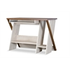 Rhombus Writing Desk Natural/Dark Brown