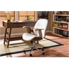 "Rathburn Modern and Contemporary White and Walnut Office Chair White/""Walnut"" Brown"