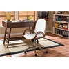 "Watson Modern and Contemporary White and Walnut Office Chair White/""Walnut"" Brown"