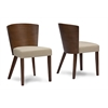 Sparrow Brown Wood and Khaki Fabric Modern Dining Chair Brown/Khaki
