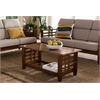 "Larissa Modern Classic Mission Style Cherry Finished Brown Wood Living Room Occasional Coffee Table ""Cherry"" Brown"