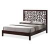 Sakuro Circle Pattern Modern and Contemporary Dark Brown King Size Wooden Platform Base Bed Frame