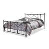 Jessie Chic Antique Dark Bronze Queen Size Iron Metal Platform Bed