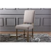 Deborah French Provincial Style Country Reclaimed Oak and Beige Linen Dining Chair