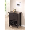 Tuscany Brown Modern Dry Bar and Wine Cabinet Dark Brown