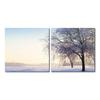 Snowy Solitude Mounted Photography Print Diptych Multi