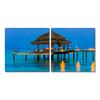 Dinner in the Tropics Mounted Photography Print Diptych Multi