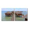 Idyllic Resort Mounted Photography Print Diptych Multi