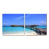 Bridge to Paradise Mounted Photography Print Diptych Multi