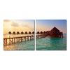 Morning Glory Mounted Photography Print Diptych Multi