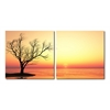 Blazing Horizon Mounted Photography Print Diptych Multi