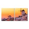 Grecian Crossroads Mounted Photography Print Diptych Multi