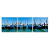 Gondola Fleet Mounted Photography Print Triptych Multi