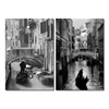 Iconic Italy Mounted Photography Print Diptych Black/White