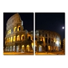 Illuminated Coliseum Mounted Photography Print Diptych Multi