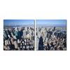 Aerial Manhattan Mounted Photography Print Diptych Multi