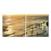 Wading in the Waves Mounted Photography Print Diptych Multi