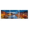 Early Evening Venetian Canal Mounted Photography Print Triptych Multi