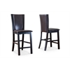 Wing Counter Stool White/Dark Brown