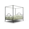 Monticello Metal Contemporary Queen-Size Canopy Bed Black
