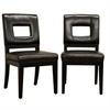 Faustino Dark Brown Leather Dining Chair