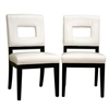 Faustino Cream Leather Dining Chair White