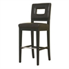 Faustino Dark Brown Leather Barstool