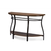 Newcastle Wood and Metal Console Table Brown
