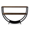 Blakes Rustic Industrial Style Antique Black Textured Finish Metal Distressed Wood Console Table Black/Brown