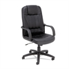 Alera Sparis Series Executive High-Back Swivel/Tilt Chair, Leather, Black