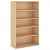 66H 5 Shelf Bookcase in Natural Maple