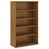 66H 5 Shelf Bookcase in Natural Cherry