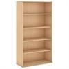 72H 5 Shelf Bookcase in Natural Maple