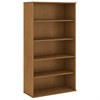72H 5 Shelf Bookcase in Natural Cherry
