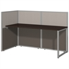Easy Office 60W Straight Desk Open Office in Mocha Cherry