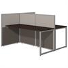 Easy Office 60W 2 Person Straight Desk Open Office in Mocha Cherry